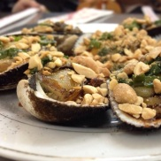 Different kind of scallops with peanuts, scallion.. etc